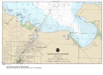 SMALL-CRAFT BOOK CHART - Inland Route, Cheboygan to Conway (book of 12 Charts) (14886-12) by NOAA