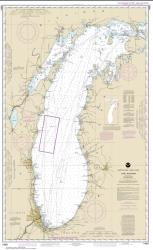 Lake Michigan (Mercator Projection) (14901-15) by NOAA