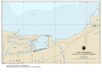SMALL-CRAFT BOOK CHART - Lake Winnebago and Lower Fox River (book of 34 charts) (14916-10) by NOAA