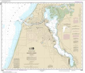 Manistee Harbor and Manistee Lake (14938-24) by NOAA
