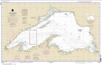 Lake Superior (Mercator Projection) (14961-12) by NOAA