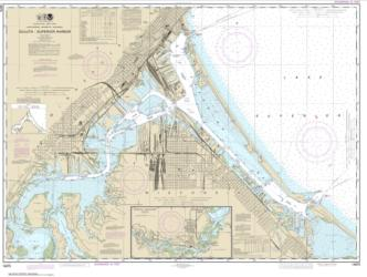 Duluth-Superior Harbor; Upper St. Louis River (14975-36) by NOAA