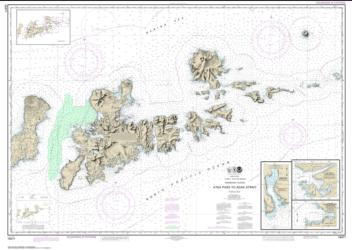 Atka Pass to Adak Strait; Three Arm Bay, Adak Island; Kanaga Bay, Kanaga Island; Chapel Roads and Chapel Cove, Adak Island (16471-12) by NOAA