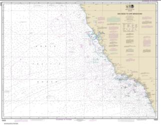 San Diego to Cape Mendocino (18020-39) by NOAA