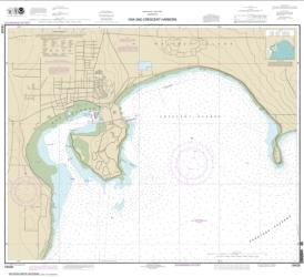 Oak and Crescent Harbors (18428-10) by NOAA