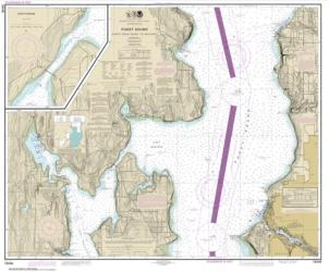 Puget Sound-Apple Cove Point to Keyport; Agate Passage (18446-18) by NOAA