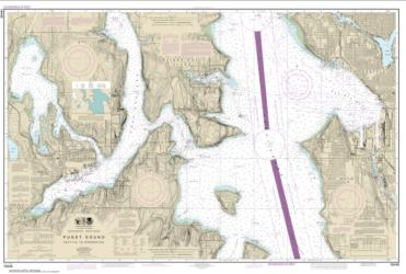 Puget Sound-Seattle to Bremerton (18449-20) by NOAA