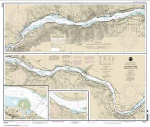 Columbia River Bonneville To The Dalles; The Dalles; Hood River (18532-21) by NOAA