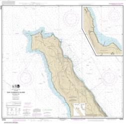 San Clemente lsland northern part; Wison Cove (18763-11) by NOAA