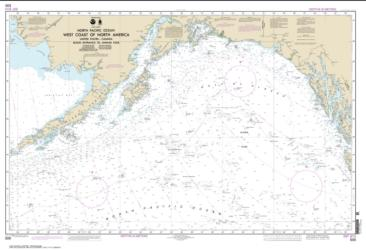 West Coast Of North America   Dixon Ent To Unimak Pass (500-8) by NOAA